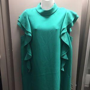 kate spade Dresses - NWT KATE SPADE Satin Crepe Flutter Sleeve Dress
